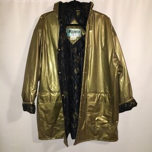 VINTAGE | WIPPETTE | LARGE | GOLD THICK RAIN COAT